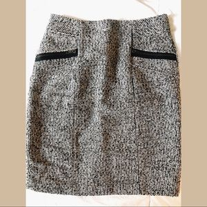 Tweed black and white pencil skirt